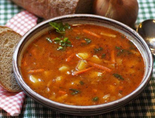 Sopa marroquí con cuscús