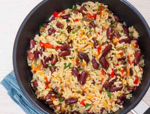 Azuki con arroz