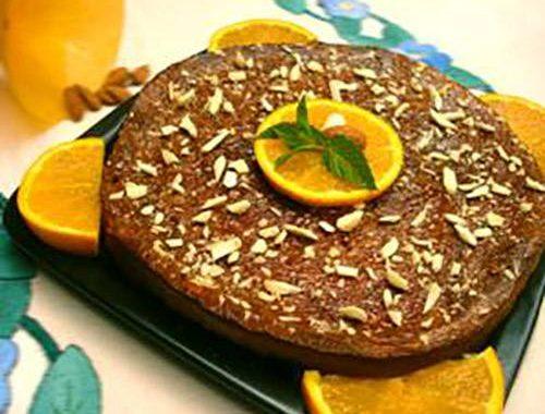 Tarta de almendra con naranja