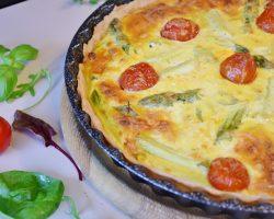 Pastel de verduras con tomate concasse